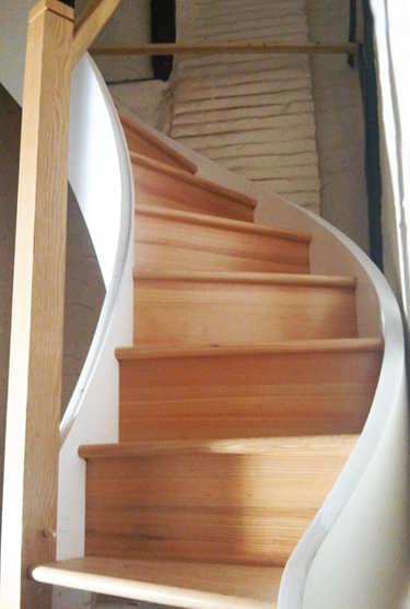 Duel Finish Staircase - British Columbian Pine & Painted