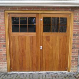 Garage Door - Framed, Ledged & Braced With Glazing