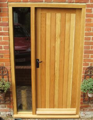 Oak Door & Sidelight