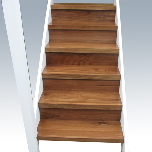 Duel Finish Staircase - American Black Walnut & Painted